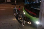 Bike on bus rack