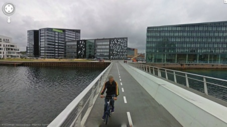 Cyclists and pedestrians only bridge - Copenhagen