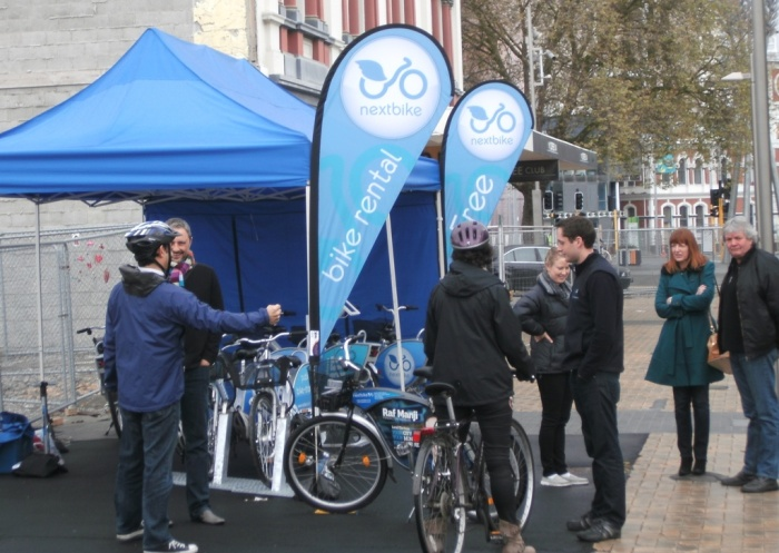The friendly folk at NextBike talked to lots of people about their public hire bikes