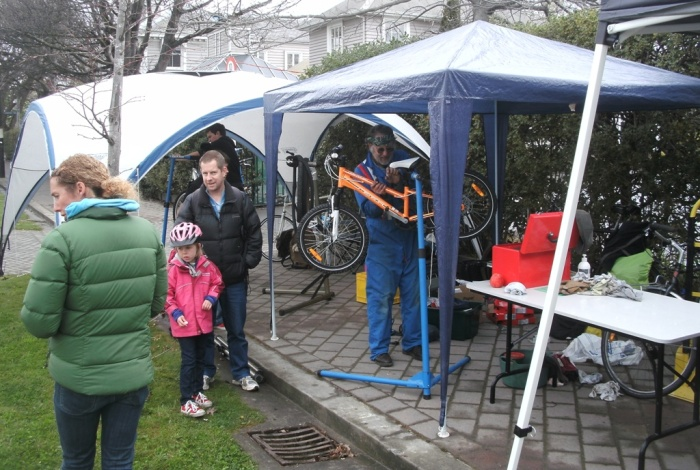 ICECycles were kept busy with a steady stream of bike tune-ups and repairs