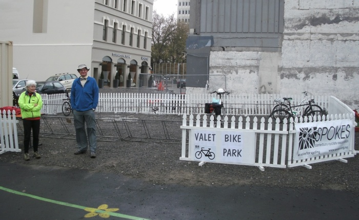 Valet Bike Parking was available, courtesy of Spokes Canterbury, but most people preferred to keep riding