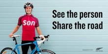 "Publicity material for the new ""Share the Road"" campaign"