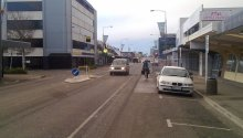 A typical painted cycle lane in Christchurch