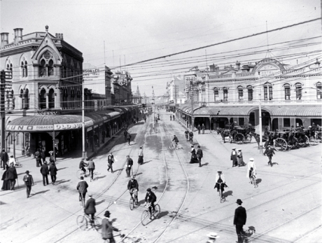 Central Christchurch circa 1910 (c/ Chch City Libraries)