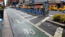 Separated cycleways and Citi-Bikes