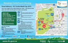 Access around Hagley Park during cricket world cup