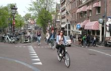 Canals, bikes - very Amsterdam...