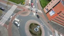 A birds-eye view of a priority roundabout