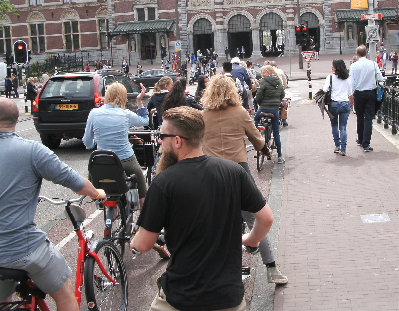 Amsterdam bike queue